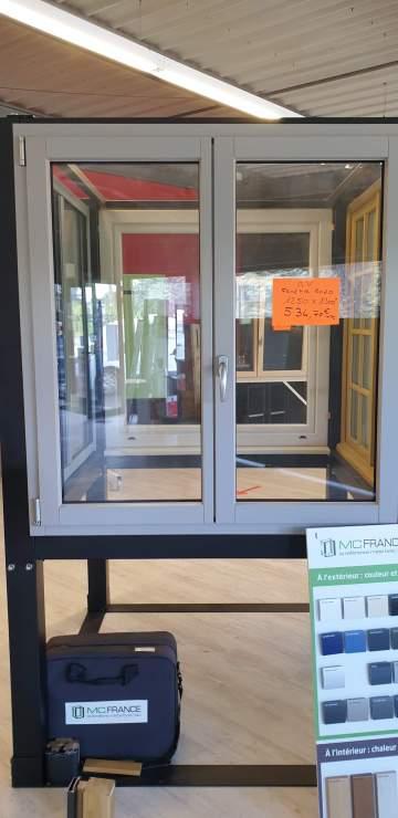 Fenêtre oscillo battante 2 vantaux ALU/BOIS 1250 x 1300 H  534.70€ TTC  ref 35
